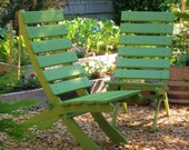 High Back Cedar Chair for Garden & Patio - rest and relax - storable - 15 colors to choose from   handcrafted by Laughing Creek