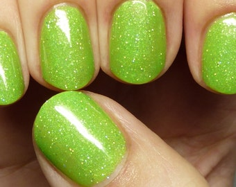Sparkling Sour Apple Pop - 15mL neon jelly holo polish
