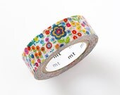 MT ex 2015 S/S NEW- Japanese Washi Masking Tape - Flower Garden