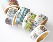 Yano Design Die-Cut Japanese Washi Masking Tape / Trip & Holiday Series at your choice for scrapbooking, packaging, invitation, card making