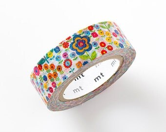 MT ex 2015 S/S NEW- Japanese Washi Masking Tape - Flower Garden