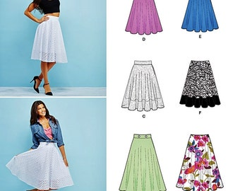 Misses Skirt Pattern, Three Quarters Circle Skirt Pattern, Simplicity Sewing Pattern 1200