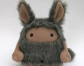 Plush Toy, Stuffed Monster Bunny, Moiijii Mountain Dweller Series by Stuffed Silly, Open Edition