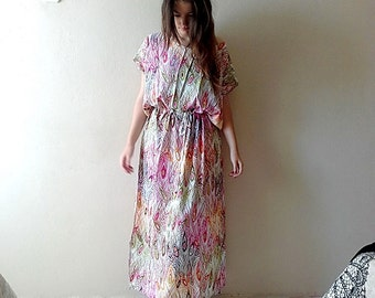 Colorful oversize kaftan dress maxi derss, 2 XL womens casual summer dresses, 3XL plus size maxi dress