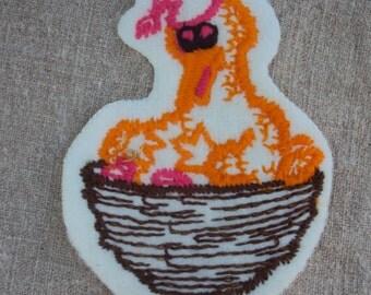 vintage 70s Big Bird in Nest Sesame Street  Character Patch
