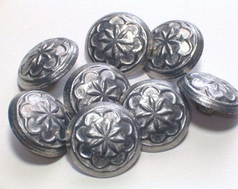 Silver Color Metal Buttons Nice Sewing Embellishment Buttons 16mm Set 8