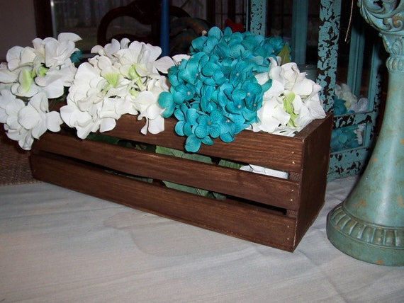 Wooden crates wedding centerpieces rustic