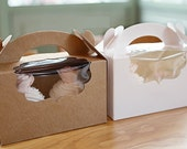 5 window cupcake boxes in kraft and white (2hd type)