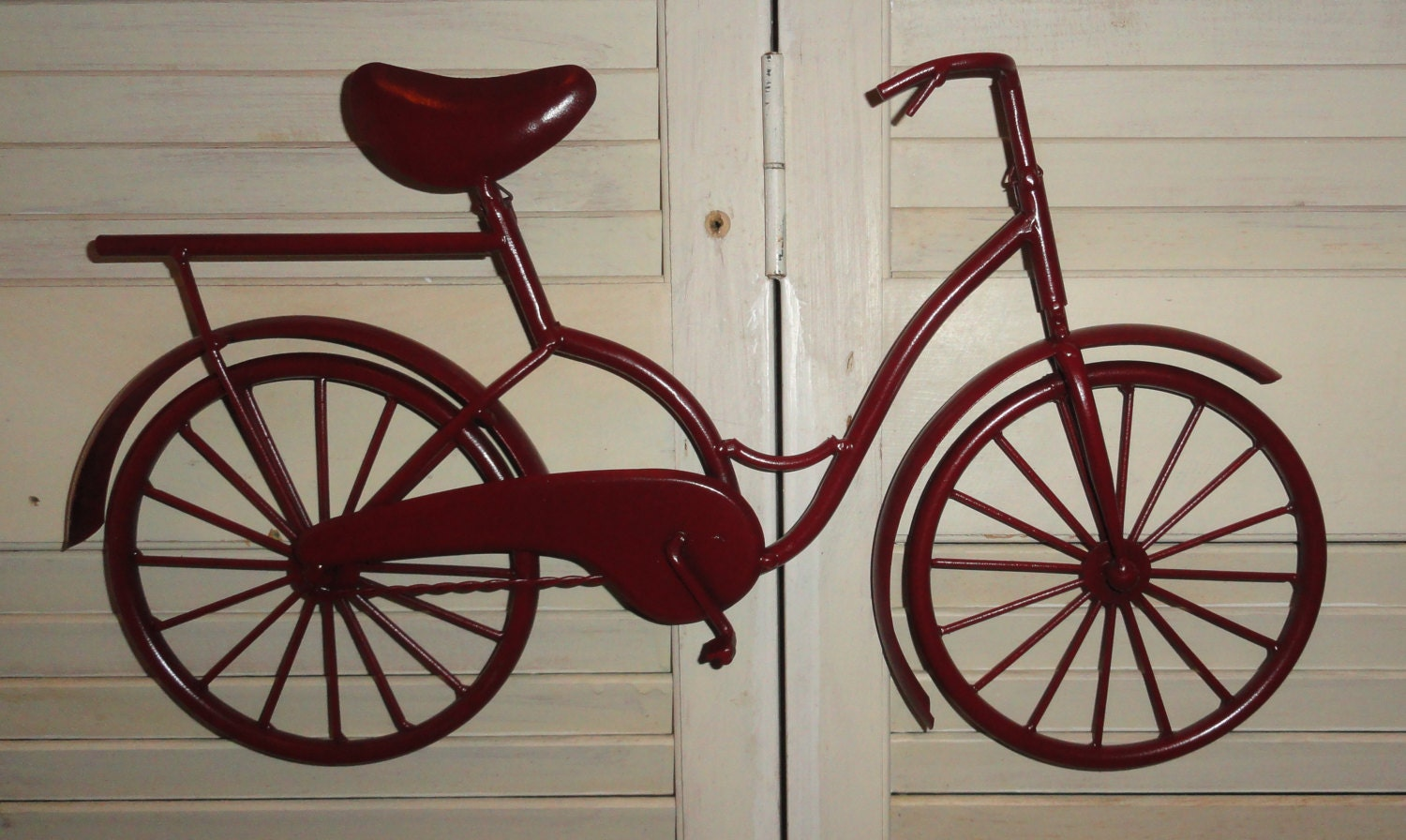 Metal Wall Decor Bicycle : Bicycle wall art metal decor by