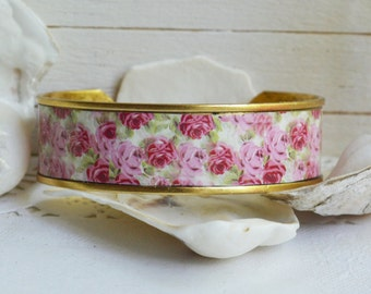 Women's Shabby Chic Cuff Bracelet - Audrey's Roses