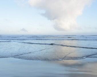 Fine art Photography  Coastal  Blue Seascape with Cloud