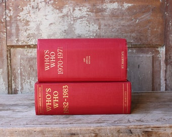 SALE! was 29/now 19 ~ who's who - set of 2 vintage books
