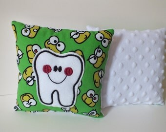 Tooth Fairy Pillow, Hello Kitty Pillow, Tooth Pillow with Pocket, Child Pillow, Easter Basket, Girl Tooth Pillow, Girl Gift, Baby Gift