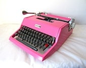Candyland Pink Olivetti Studio 21 Vintage Manual Typewriter - Kimberly - Professionally Serviced