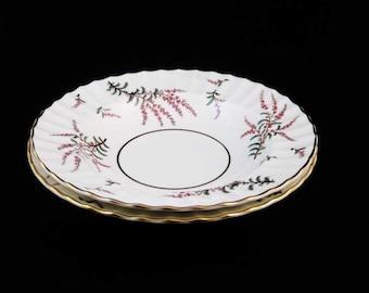 """Royal Worcester DUNROBIN Salad Plates (2) 8-1/8"""""""
