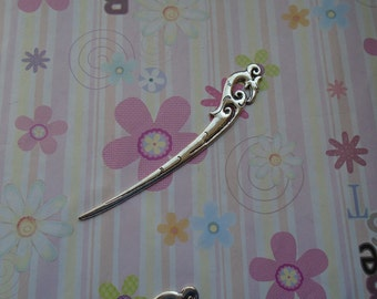 10pcs 115mmx25mm antique silver metal hair stick