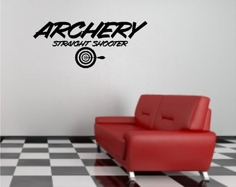 Archery Wall Quote Saying Words Lettering Removable Archery Wall Decal Art