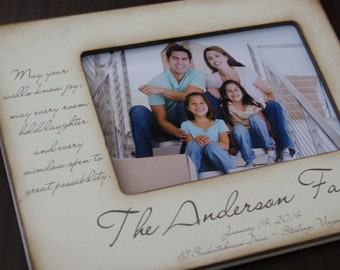 House Warming Gift | New Home Housewarming Gift | Our First Home Personalized Frame | Personalized Address and Family Name | New House Gift