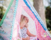 Tent - Tee Pee Sewing Tutorial, PDF Fort Instructions