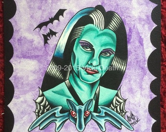 Lily Munster Original Portrait Art