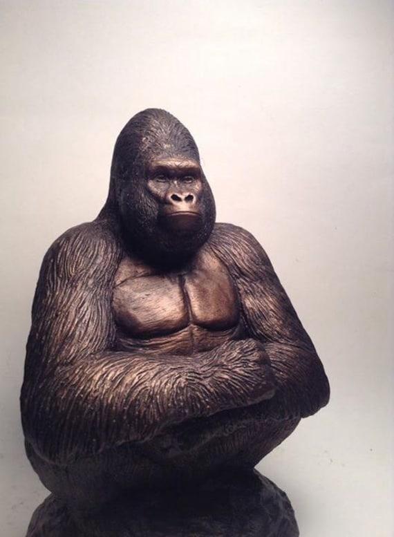 Gorilla sculpture jomo statue figurine - Gorilla figurines ...
