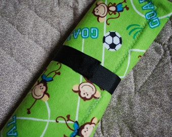Childrens Chalkboard to Go travel placemat - monkeys playing soccer