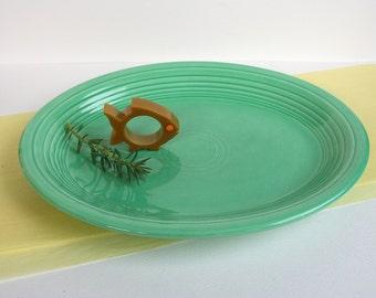 Fiesta oval plate in spring green. Light green, Genuine Fiesta, mid century, Homer Laughlin, California, modern