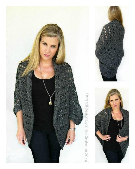Oversized Chunky Crochet Shrug Pattern No.920 Digital Download