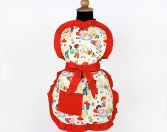 Vintage Candy Girls Apron / One size Fits Ages 2-10