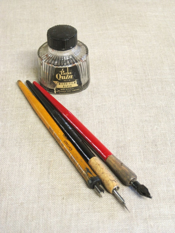 Fountain Pen Calligraphy Pen Ink Pen Antique Pen Group