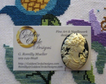 Butterfly Lady Cameo - Needle Minder