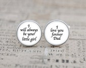 Wedding Cufflinks for Dad, I Love You Forever Dad, Father of the Bride Cuff Links