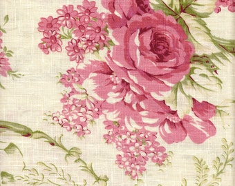 Isabella #3 Rose Flower-Laundered Fabric by the Yard by Noveltex