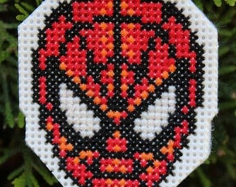 Handmade Spiderman Cross Stitch Ornament