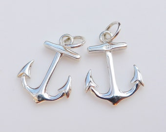 10pcs Anchor Charms Antique Silver 17x12mm Jewellery Supplies B61526