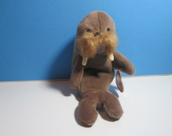 vintage ty beanie baby walrus, jolly, free shipping