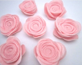 Pink Baby Shower Favors -- Its a Girl Favors -- Pink Flower Pin -- Felt Flower Pin -- Baby Pink Felt Flowers -- Felt Flower Pin Accessory