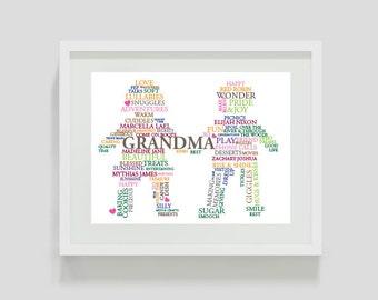 """Custom """"Grandma"""" Shape Art"""