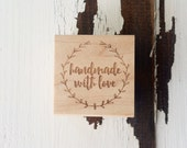 Handmade with Love / Wood Stamp / Handmade / Gift Tags / Gift Wrap / Limited Edition
