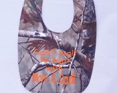 Cant Wait To Hunt With Mom and Dad!! - Small Baby Bib - Hot Pink