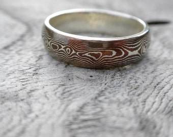 Mokume Gane Ring - Wedding Ring