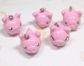 Kawaii Cute Pink Pig Charm