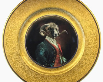 Dominus Coracinus Merino - Altered Antique Plate 11.35""