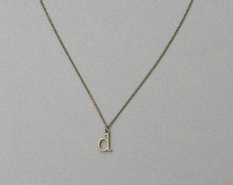 Antique Bronze d Necklace