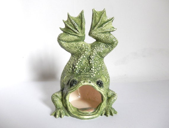 Vintage 1970 39 s ceramic frog toad kitchen sink steel by joeblake - Frog sponge holder kitchen sink ...