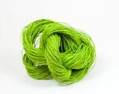 Paper Yarn - Paper Twine: Fresh Green / Lime - 131 yards (120m) - Knit, crochet, textile arts, DIY supply