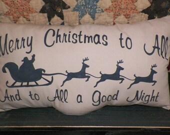 UNSTUFFED Christmas Santa Claus Reindeer Primitive Pillow Country Home Decor Decorative Cushion Cover Seasonal Decoration Rustic wvluckygirl
