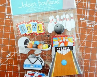 Bowling Alley Dimensional Stickers by Jolee's Boutique