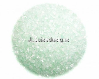 Mint Green Sugar Crystals Edible Sprinkles, Custom Colors, Cake Cookie and Cupcake Sprinkles Confetti Decorations