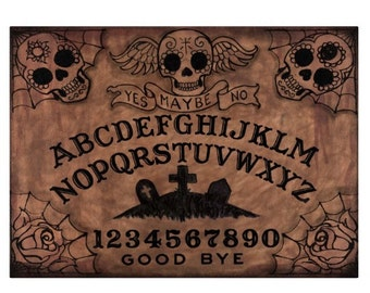 Day of the Dead Ouija cutting Board